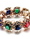 Vintageg Environmental Protection Alloy Sapphire Pearl Stretch Bracelet