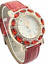 Женская Diamante белый циферблат PU Группа Кварцевые аналоговые наручные часы (разных цветов)