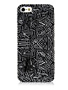 Black and White Line Pattern Silicone Soft Case for iPhone4/4S