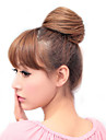Synthetiques Golden Light Brown Hair Extensions droites Rubber Band Tied