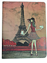 Eiffel Tower Pattern PU Leather Case with Stand for iPad 2/3/4