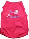 Cat / Dog Shirt / T-Shirt Rose Dog Clothes Spring/Fall Fruit