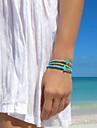 chaine de mode shixin® avec des perles de turquoise de forme croix 23cm bracelet vert brin d'alliage des femmes (1 pc)