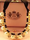 Черный / Белый Ожерелья с подвесками Стразы Для вечеринок / Повседневные Бижутерия