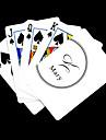 Персональный подарок Белый Подпись Стиль игральных карт