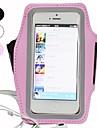 Pour Avec Ouverture Brassard Coque Brassard Coque Couleur Pleine Flexible Tissu pour Universel iPhone SE/5s/5