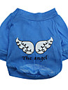 Angel Wings Style Cotton Dog Shirt (XS-M, Blue)