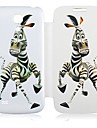 Zebra Pattern Leather Full Body Veske til Samsung Galaxy S4 Mini I9190