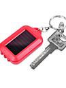 ABS Solar oppladbart Portable LED lommelykt (tilfeldig farge)