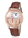 Unisex Eiffel Tower Leather Band Analog Wrist Watch (Assorted Colors)