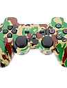 Camouflage Wireless Controller for PS3 (gul + groenn)