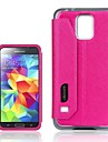 Touch Series PU Leather Case Back Case with View Window for Samsung Galaxy S5 I9600(Assorted Colors)