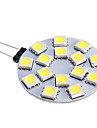 7W G4 LED Spotlight 15 SMD 5050 480 lm Warm White / Cool White DC 12 V