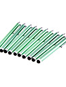 10 Pieces Packed Clip on Green Stylus Touch Screen Pen for iPads DIY for iPhone 8 7 Samsung Galaxy s8 s7