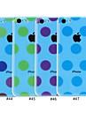 Elonbo rond points de couverture de cas Transparent Style Design arrière dur pour iPhone 5C (couleurs assorties)