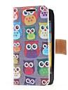 Housse en cuir Hiboux style avec fente pour carte et stand pour Samsung i9070 Galaxy S Advance