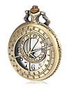Men's Hollow Ruler Cover Bronze Alloy Quartz Pocket Watch Cool Watch Unique Watch
