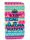 Tribal Carpet Hakuna Matata Pattern PU Leather Case Cover with Stand and Card Slot for Motorola MOTO X