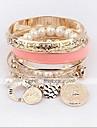 MISSING U Alloy / Imitation Pearl Bracelet Chain & Link Bracelets / Strand Bracelets Daily 1pc