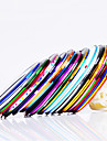 Decoracao Art 12PCS 12-Color Striping prego Linha Tape Stripe Tape Nail Sticker
