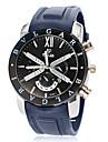Men\'s Calendar Sporty Round Dial Silicone Band Quartz Analog Wrist Watch (Assorted Colors)