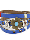 Vintage Multi-row Leather Clover Pattern  Bracelet(Assorted Colors)