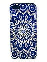 Blue Flower Pattern Hard Back Case for iPhone 5/5s/SE
