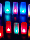Colorful Candle Shape Flame ABS LED Night Light for Festival Christmas Halloween