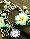 Kvinnors Flower Style Alloy Band kvarts armband klocka (blandade färger)