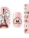 28pcs розовый романтический Париж Дизайн Nail Art Наклейки