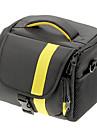 NOVO Nylon Tamanho Grande SLR Camera Bag (Amarelo, Vermelho)