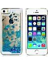 Pour Coque iPhone 5 Liquide Coque Coque Arriere Coque Brillant Dur Polycarbonate pour iPhone SE/5s/5