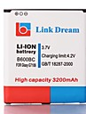 Link Dream High Quality 3.7V 3200mAh Cell Phone Battery for Samsung Galaxy Grand 2 G7106  (B600BC)