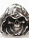 Alliances Forme de Tete de Mort Quotidien Regalos de Navidad Bijoux Acier au titane Anneaux7 8 9 10 11 12 Noir
