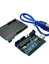 (Fuer Arduino) uno Mikrocontroller-Entwicklungsboard mit LCD-Schirm Tastatur-Erweiterungskarte und USB-Kabel