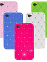 Shiny Silicone Soft Case with Diamond for iPhone 4/4S (Assorted Colors)