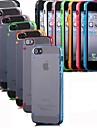 multicolor caso transparente para iPhone 5 / 5s (cores sortidas)