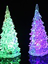 Coway Crystal Christmas Tree Light farverige LED Night Light Small Tree Lampe