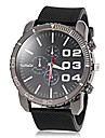 Menn Simple Round Dial silikonbaand Quartz Analog Casual Watch (assorterte farger)