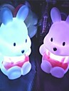 Coway navet lapin colore LED Night Light mignon petit lapin Fournitures de mariage