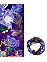 KORAMAN Summer Purple Peking Opera Thin Anti-UV Sun-proof Cycling Magic Scarf Headband