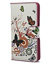 Цветы и Круги шаблон PU кожаный чехол с подставкой и слот для карт Sony Xperia M C1905