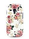 Linda Soft Case TPU Padrão Rose para Samsung Galaxy S3 Mini I8190