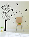 jiubai ™ iso puu ja linnut seinä tarra Seinätarra, 165cm korkeus