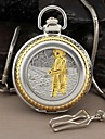 Angler ronde de style romain grands chiffres Hommes Dial Quartz analogique montre de poche