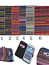 For Samsung Galaxy Case Card Holder / with Stand / Flip / Pattern Case Full Body Case Lines / Waves PU Leather Samsung Grand