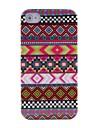 Custodia rigida, con fantasia a strisce etniche, di colore viola, per iPhone 4/4S