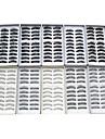 100PCS 10 Mixed Styles Natural Handmade Black Lengthening Thicker Fiber False Eyelashes