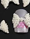 10PCS 3D 진주 나비 넥타이 합금 액세서리 네일 아트 장식