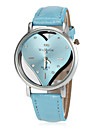 Women's Hollow Heart Dial PU Band Quartz Wrist Watch (Assorted Colors) Cool Watches Unique Watches Fashion Watch